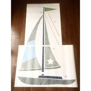 Large Sailboat Mural Wall Decal Removable Nursery
